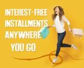 Interest-free installments anywhere you go